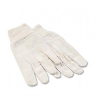 Boardwalk Large 8oz Cotton Canvas Gloves, White, 12 Pairs