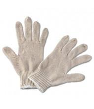 Boardwalk Large String Knit General Purpose Gloves, Natural, 12 Pairs