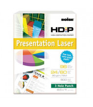 "Boise HD:P 8-1/2"" X 11"", 24lb, 500-Sheets, 3-Hole Presentation Laser Paper"