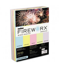 "Boise Fireworx 8-1/2"" x 11"", 20lb, 500-Sheets, Pastel Popper Mix Colored Printer Paper"