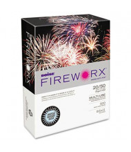 "Boise Fireworx 8-1/2"" x 11"", 20lb, 500-Sheets, Bottle Rocket Blue Colored Printer Paper"