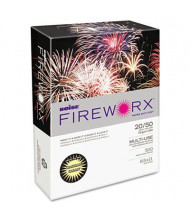 """Boise Fireworx 8-1/2"""" x 11"""", 20lb, 500-Sheets, Crackling Canary Colored Printer Paper"""