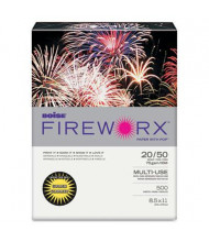 "Boise Fireworx 8-1/2"" x 11"", 20lb, 500-Sheets, Golden Glimmer Colored Printer Paper"