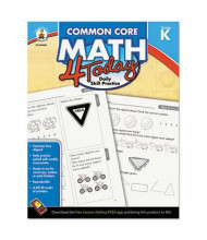 Carson-Dellosa Common Core 4 Today Math Kindergarten Workbook, 96 Pages