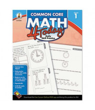 Carson-Dellosa Common Core 4 Today Math Grade 1 Workbook, 96 Pages