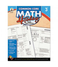 Carson-Dellosa Common Core 4 Today Math Grade 3 Workbook, 96 Pages