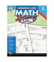 Carson-Dellosa Common Core 4 Today Math Grade 5 Workbook, 96 Pages