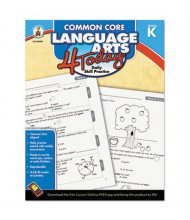 Carson-Dellosa Common Core 4 Today Language Arts Kindergarten Workbook, 96 Pages