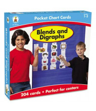 "Carson-Dellosa 4"" x 2-3/4"" Blends and Digraphs Cards for Pocket Chart, 204 Cards"