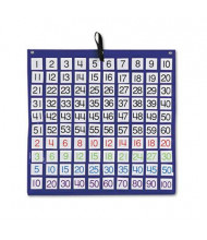 "Carson-Dellosa 26"" x 26"" 100-Pocket Chart with 1-100 Number Cards"