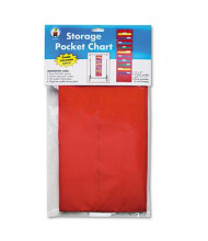 "Carson-Dellosa 14"" x 47"" 10-Pocket Storage Chart, Red"