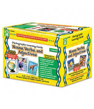 Carson-Dellosa Nouns, Verbs, Adjectives Grades K-12 Photographic Learning Cards Boxed Set