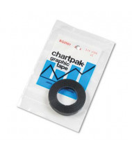 "Chartpak 1/4"" x 9 yds Graphic Chart Tape, Glossy Black"