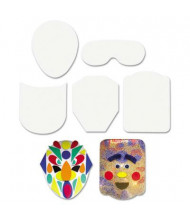 "Creativity Street 5"" Peel & Stick Faces Decoration Boards, 12/Pack"