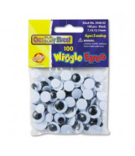 Creativity Street Black Wiggle Eyes Assortment, 100/Pack