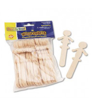 "Chenille Kraft 5-3/8"" People-Shaped Wood Craft Sticks, 36/Pack"