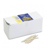 Chenille Kraft Flat Wood Toothpicks, Natural, 2500/Pack