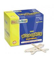 "Chenille Kraft 4-1/2"" x 3/8"" Natural Wood Craft Sticks, 1000/Box"