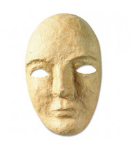 "Creativity Street 5-1/2"" x 8"" Paper Mache Mask Kit, Natural"