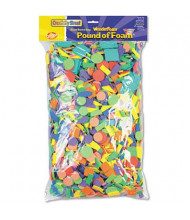 Chenille Kraft Wonderfoam Shapes Classroom Pack, Assorted Shapes/Colors, 5000 Pieces/Pack