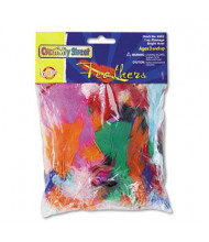 Creativity Street 1 oz Bright Hues Feather Assortment, Bright Assorted