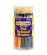 Creativity Street Flat Natural Bristle Colossal Brush, 30/Set