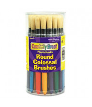 Creativity Street Round Natural Bristle Colossal Brush, 30/Set