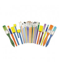 Creativity Street Starter Brush Set, Assorted Sizes/Colors, 25/Set