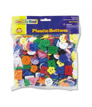 Chenille Kraft 1 lb Plastic Button Assortment, Assorted Colors/Sizes