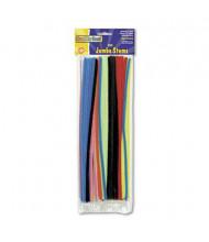 """Chenille Kraft Jumbo Pipe Cleaner Stems, 12"""" x 6mm, Assorted, 100/Pack"""