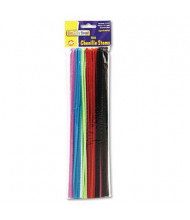 "Chenille Kraft Regular Pipe Cleaner Stems, 12"" x 4mm, Assorted, 100/Pack"