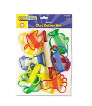 Creativity Street Clay Cutter Set with Rolling Pin and 10 Cutters