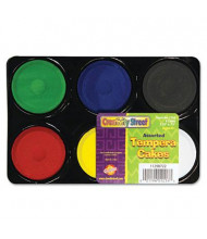 Creativity Street Tempera Paint Cakes, Assorted, 6/Pack