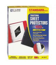 "C-Line 8-1/2"" x 11"" Standard Poly Sheet Protectors, 100/Box"
