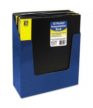 "C-Line 12-Sleeve 8-1/2"" x 11"" Bound Sheet Protector Presentation Book, Black"
