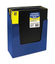"C-Line 24-Sleeve 8-1/2"" x 11"" Bound Sheet Protector Presentation Book, Black"