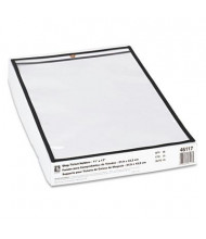 "C-Line 11"" x 17"" Clear Stitched Shop Ticket Holder, 25/Box"
