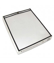 "C-Line 12"" x 15"" Clear Stitched Shop Ticket Holder, 25/Box"