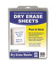 "C-Line Peel and Stick 8-1/2"" x 11"", 25-Sheets, Dry Erase Paper"