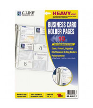 "C-Line 8-1/8"" x 11-1/4"" 20-Card Binder Pages, 10/Pack"