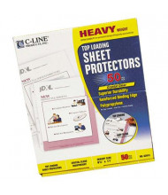"C-Line 8-1/2"" x 11"" Top-Load Heavyweight Clear Poly Sheet Protectors, 50/Box"