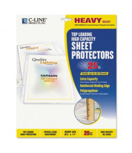 "C-Line 8-1/2"" x 11"" Top-Load High Capacity Poly Sheet Protectors, 25/Box"