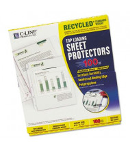 "C-Line 8-1/2"" x 11"" Top-Load Recycled Poly Sheet Protectors, 100/Box"