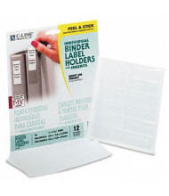 """C-Line 3/4"""" x 2-1/2"""" Self-Adhesive Binder Label Holders, Clear, 12/Pack"""