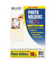 "C-Line 4-3/8"" x 6-1/2"" Peel & Stick Photo Holders for 3"" x 5"" & 4"" x 6"" Photos, 10/Pack"