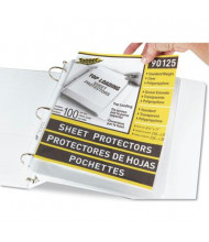 "C-Line 8-1/2"" x 11"" Top-Load Standard Clear Poly Sheet Protectors, 100/Box"