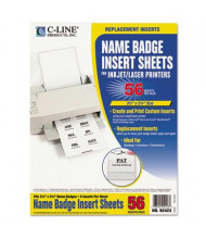 "C-Line 3-1/2"" x 2-1/4"" Additional Name Badge Inserts, White, 56/Pack"