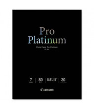 "Canon Pro Platinum 8-1/2"" X 11"", 80lb, 20-Sheets, High-Gloss Photo Paper"