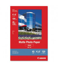 "Canon 4"" x 6"", 45lb, 120-Sheets, Matte Photo Paper"
