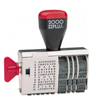 "2000 Plus 12-Phrase Dial-N-Stamp, 1-1/2"" x 1/8"""